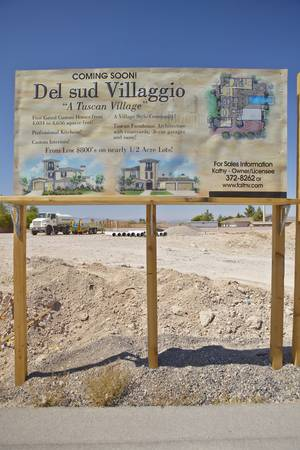Desert construction of new homes in Clark County, Las Vegas, NV