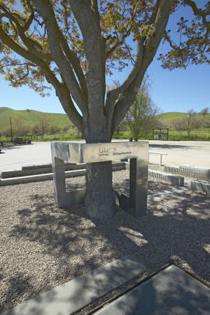 dean: A memorial to actor James Dean, killed in a car accident near the intersection of Highways 46 and 41 in California in the 1950s