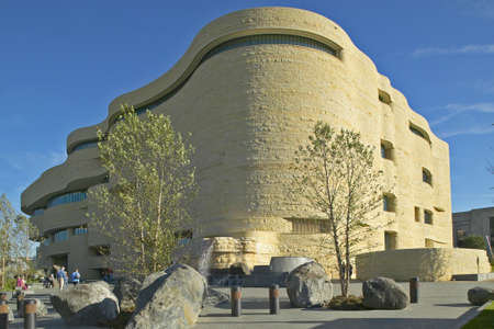National Museum of the American Indian, Smithsonian, in Washington D.C. Banco de Imagens - 19920732