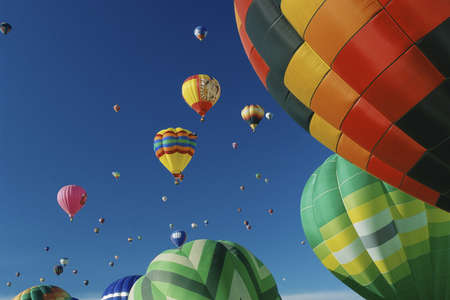kodak: Hot air balloons in air at Albuquerque Intl Balloon Festival