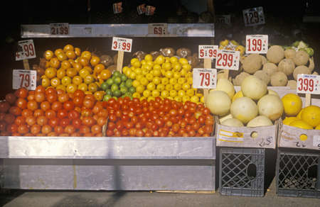 Fresh produce stand, Upper West Side, NY