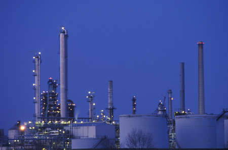 The top of a chemicals and plastics plant in Delaware