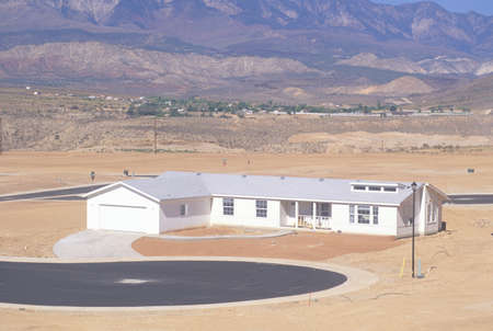 Desert land development in Silver Springs, Utah