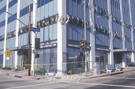 northridge: A building in Los Angeles destroyed by the Northridge earthquake in 1994 Editorial