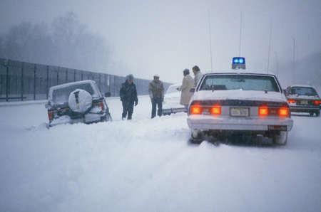 Car Marooned in Snow, Washington, D.C.