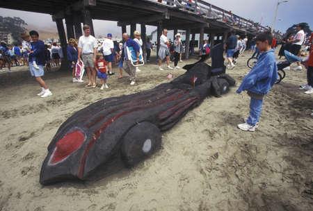 sand mold: Sand Castle Sculpting Contest, Cayucos, California Editorial