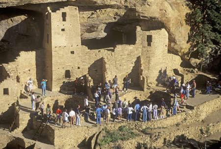 abodes: Tourists at Mesa Verde National Park, Colorado Editorial