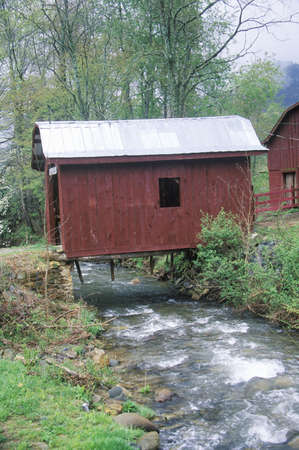 tn: Old Covered Bridge, Great Smokey Mountain National Park, Tennessee