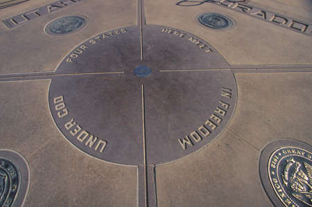 Four corners of Colorado, Utah, New Mexico and Arizona Editorial