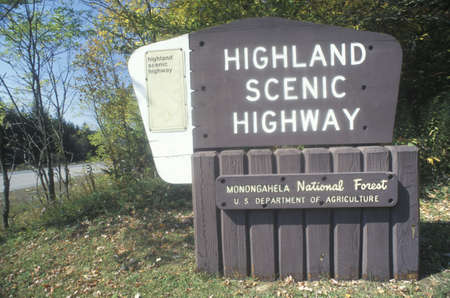 A sign for Highland Scenic Highway