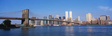 C'est le pont de Brooklyn sur l'East River à Manhattan.