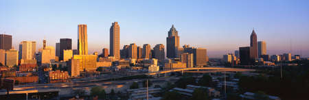 This is the skyline after the 1996 sports competitions took place. It is the view at sunset.