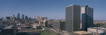 This is the Crown Center and skyline.