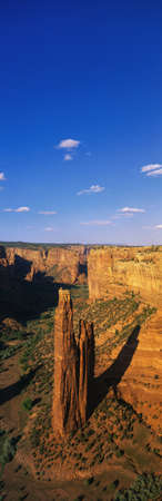 extensive: This is Spider Rock which is 800 ft. high. It is located on South Rim Drive.