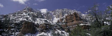 These are the red rocks of Sedona after a freshly fallen snow. photo