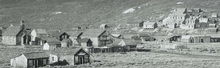 pioneers: This is an old ghost town from around 1859. It was known as the Baddest Town in the West during the gold rush period. Stock Photo