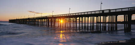 This is the Ventura Pier at sunset.  photo
