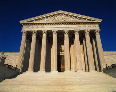 This is the United States Supreme Court against a blue sky.