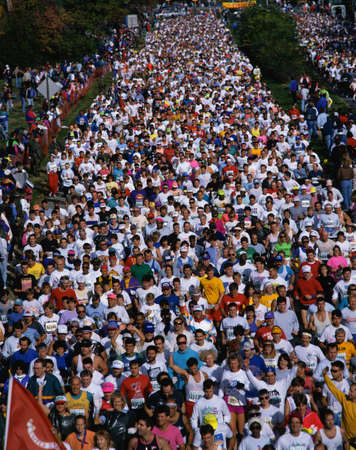 This is the 17th Marine Marathon. There were about 13,000 runners. It took place in Rosslyn, Virginia.