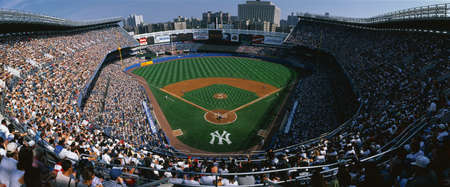 baseball crowd: This is Yankee Stadium. This was the Yankees 114th victory. The score was 8 to 3 over the Tampa Bay Daredevils. The Yankees were the 1998 World Champions. The attendance at this game was 49,680.
