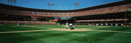 baseball stadium: This is 3Com Stadium. It was formerly known as Candlestick Park. The San Francisco Giants are playing. Editorial