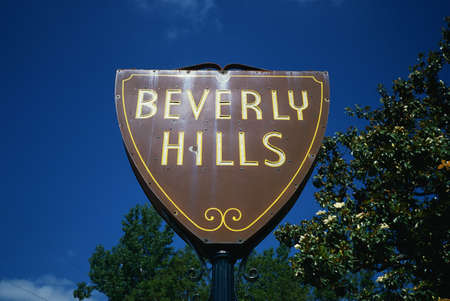 This is the city sign for Beverly Hills.