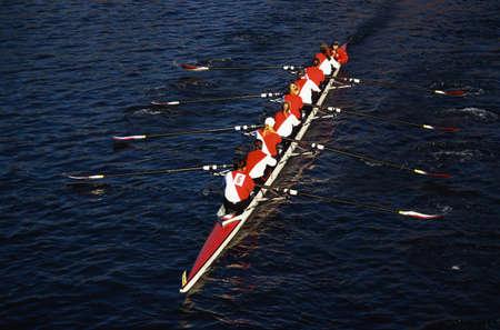 これはチャールズ レガッタの頭部です。それはボート イベント有名な秋です。漕ぎ手が出展したチームワークを示しています。 写真素材 - 20475063