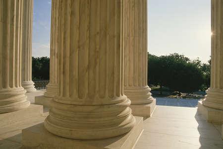 Base of columns at US Supreme Court building photo
