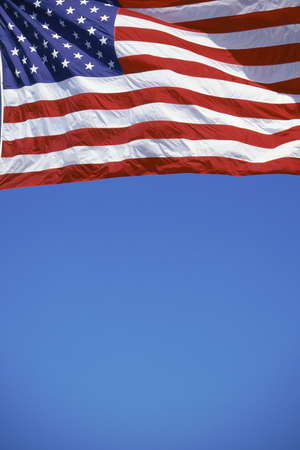 American flag on flagpole photo