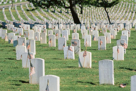 national military cemetery: Tombstones in Arlington National Cemetery Editorial