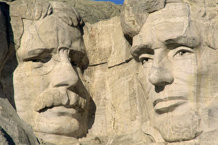 theodore roosevelt: Theodore Roosevelt and Abraham Lincoln on Mount Rushmore