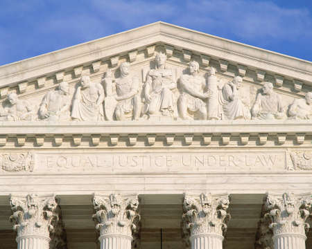 pediment: Detail from Supreme Court Building