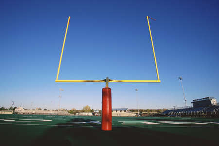 Goal posts on football field