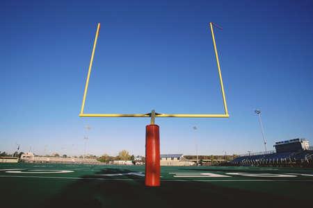 football field: Goal posts on football field