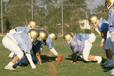 school football: High school football game Stock Photo