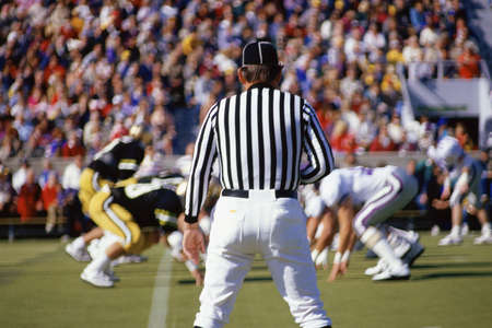 diversion: Referee watching football game