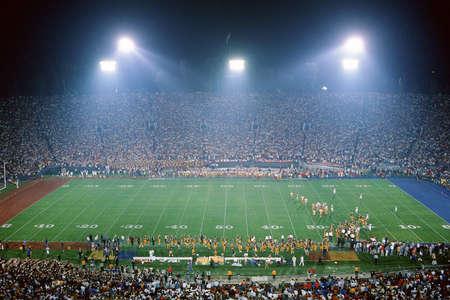 Interior of football stadium Editorial