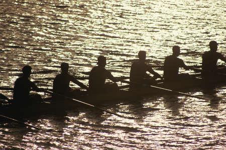 équipe de l'équipage dans l'eau Banque d'images