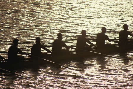 rower: Crew team in water