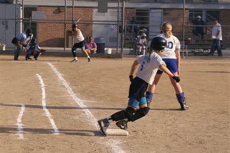 backstop: Softball game