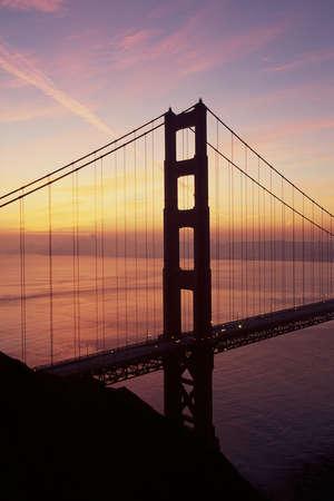 Golden Gate Bridge in waning twilight, CA Stock Photo - 20486307