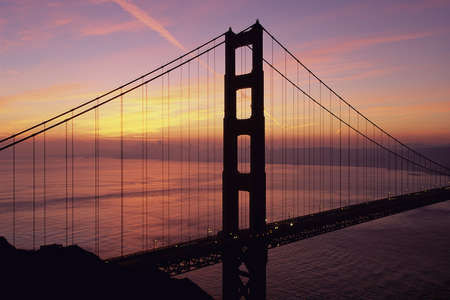 Golden Gate Bridge in waning twilight, CA Stock Photo - 20486333