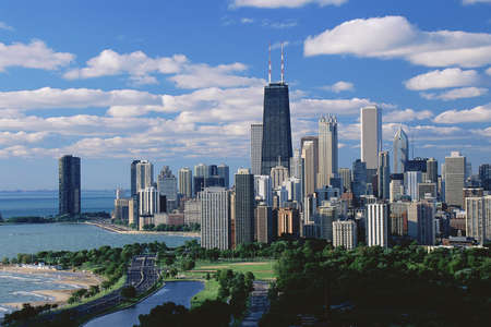 chicago: Chicago, Lincoln Park & Diversey Harbor Stock Photo