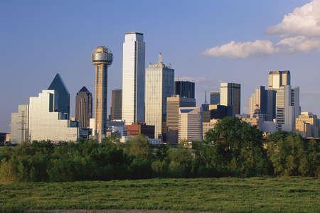dallas: Scenic Dallas skyline Editorial