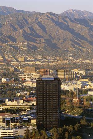 San Fernando Valley with mountains in background photo