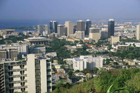 visions of america: Aerial view of Honolulu