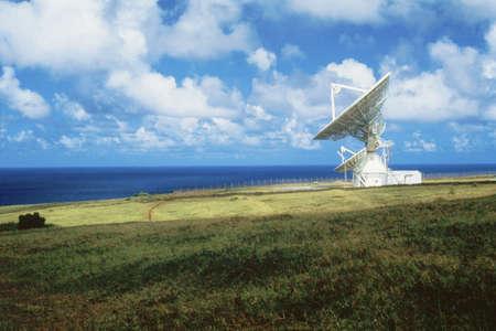 VLA Very Large Array radio telescope dish by the ocean