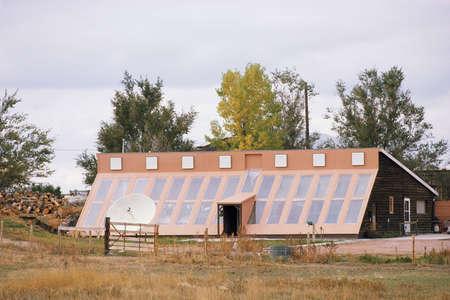 energy conservation: Solar home in Nebraska