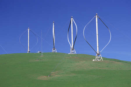 altamont pass: Vertical-axis windmills on hill