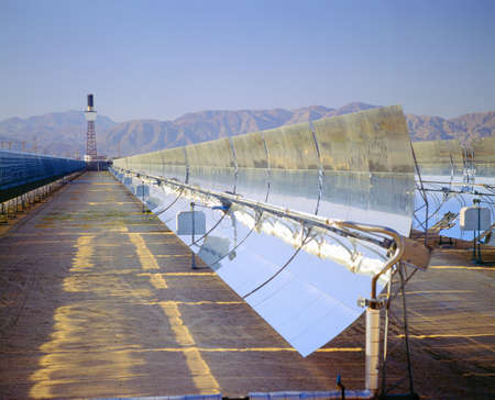 barstow: Solar plant at Barstow, California Stock Photo